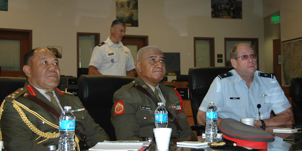 Top Tongan military official visits Carson City, Nevada National Guard & Emergency Management staff